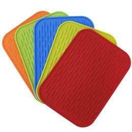 Chinese  Wholesale- Silicone Holder Kitchen Mat Heat Non-slip Resistant Trivet Tray Pot Straightener Kitchen Tool Table Decoration Accessories Mats manufacturers