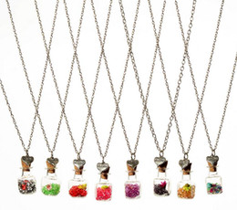 $enCountryForm.capitalKeyWord Canada - Good A++ DIY dry flower drift bottle necklace square glass bottle crystal pendant ornaments WFN287 (with chain) mix order 20 pieces a lot