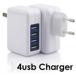 Discount high speed usb charger - 3.1A 15W High Speed 4 Port USB Wall Charger Portable Travel Charger Power Adapter with Folding Plug for iPhone 7 Plus iP