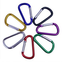 Carabiner Ring Porte-clés Porte-clés Sports de plein air Camp Snap Clip Crochet Keychain Randonnée en aluminium Métal Pratique Randonnée Camping Clip On