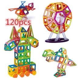 kids magnetic blocks 2019 - 120 PCS Mini DIY Magnetic Construction Toy Kids Educational Toys Plastic Creative Enlighten Magnetic Building Blocks che