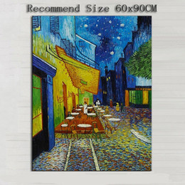 Van Gogh Paints Canada - Impression Cafe,Pure Hand Painted Modern Wall Decor Vincent Van Gogh Cafe Art Oil Painting On High Quality Canvas.Multi sizes VG004