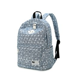 55eeee67588e Brand Design Fresh Cute Book Bags Floral High Quality Canvas Printing  Backpack Women School Backpacks for Teenage Girl