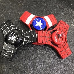 metal spiderman 2019 - Wholesale EDC Toys Spider Man Triangular Hand Spinner Metal Profession Spiderman Spinner ADHD Tri Spinner Fidget Spinner