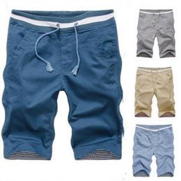 Discount Mens Cotton Cargo Shorts Elastic Waist | 2017 Mens Cotton ...