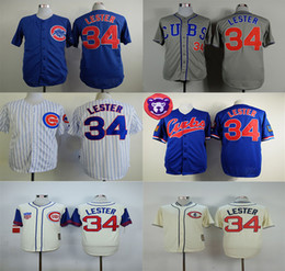 4da7646b495 ... Chicago Cubs World Series Champions Baseball Jerseys 34 Jon Lester  Jersey 2017 Flexbase Cool Base Pinstripe 2016 ...