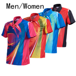 Hot air jacket online shopping - Hot new badminton table tennis wear short sleeved summer jacket men women tennis shirt dry air speed