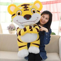 Discount tiger soft toy - New Lovely Tiger Plush Toy Doll king Of The Forest Tiger Stuffed Animal Soft Doll Children Birthday Gift