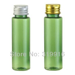 $enCountryForm.capitalKeyWord NZ - Free shipping 30ml green empty plastic vial , travel bottles ,Mini container with aluminum cap 100pc lot