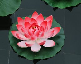 Red lotus flower water suppliers best red lotus flower water 17 cm diameter artificial lotus flower floating on the water pool for fish tank decoration llfa supplier red lotus flower water mightylinksfo