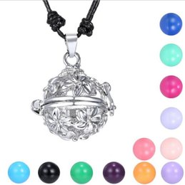 Pregnancy Chime Pendant Australia - Fashion Harmony Bell Ball Musical Pregnancy Baby Chime Bola Locket Cage Pendant Fetal Education Angel Sounds Caller Necklace