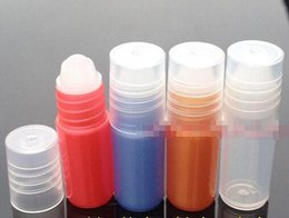 $enCountryForm.capitalKeyWord Canada - 3ML Plastic Roll On Bottle Refillable Essential Oil Lip Gloss Perfume Glass Roller Ball Roll On Bottle Clear Cap Travel Portable