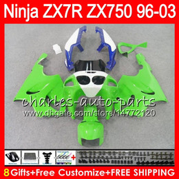 China 8Gifts 23Colors For KAWASAKI NINJA ZX7R 96 97 98 99 00 01 02 03 green white 18NO27 ZX750 ZX 7R ZX-7R 1996 1997 1998 2001 2002 2003 Fairing supplier zx7r 1997 green suppliers