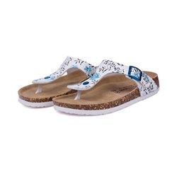 New Beach Cork Flip Flops Slipper 2017 Casual Summer Women Смешанная раскраска для печати на слайдах Сандалии Плоская обувь