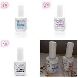 Discount gelish nails wholesalers - 50pcs Top quality Harmony gelish polish LED UV nail art gel TOP it off and Foundation frence nails Top coat Base coat se