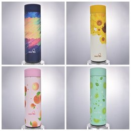 hot chocolate wholesalers 2019 - Stainless Steel Water Bottle Portable Coffee Mug Gift Creative Fruit Pattern Insulated Cup Hot Sale 24 46xj C R cheap ho