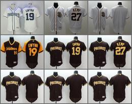 256f171bccf ... 2017 Flexbase MLB Stitched San Diego Padres 27 Matt Kemp 19 Tony Gwynn  Blank White Baseball ...