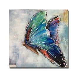 $enCountryForm.capitalKeyWord NZ - Hand drawing top quality cartoon butterfly beautiful oil painting free shipping 1 piece canvas wall art