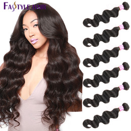 Discount peruvian hair cheap - New Arrivals!Fastyle Brazilian Body Wave Hair Extensions 6 Bundles UNPROCESSED Peruvian Malaysian Indian Virgin Human Ha
