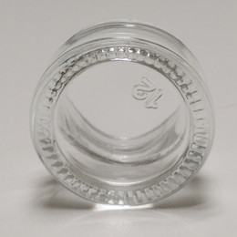 Glasses Storage Australia - wholesale cosmetic transparent glass container storage 5ml custom Tempered Glass Cream dab wax oil bho glass jar with black plastic lid