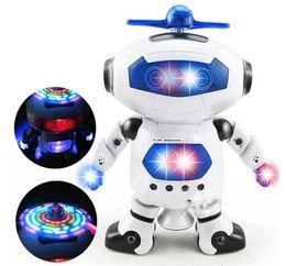 Electronics Dance Music Canada - New Kids Dancing Robert Toys Plastic Electronic Walking Dancing Smart Space Robot Astronaut Children Fun Music Light Christmas Gift