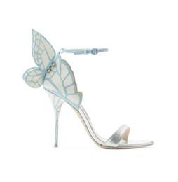 2017 Nuevos Zapatos Mujer Volver Sandalias de Mariposa Sweet Chic Tacones Altos Diseñador Sandalias Mujer Lado Correa de Tobillo Zapatos de Mujer Sexy Plus