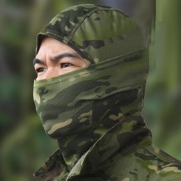 Full Military Gear NZ - Hot Camouflage Balaclava Face mask Hood Headwear hunting Outdoor Cycling Motorcycle Hunting Military Tactical Helmet liner Gear Full Face