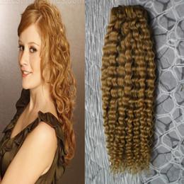 $enCountryForm.capitalKeyWord Canada - Curly hair clip ins 7pcs YUNTIAN #27 Strawberry Blonde remy human hair extensions 100g clip in human hair extensions