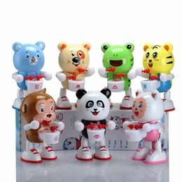 Electronics Dance Music Canada - Dance Robot Drum Robot animals Electronic Walking Toys With Music Light Gift For Kids Educational toys for children