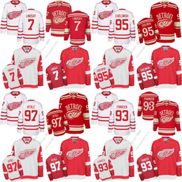 41b34a370c1 2017 Centennial Classic Men Detroit Red Wings 93 Johan Franzen 97 Joe  Vitale 7 Ted Lindsay Ice Hockey Jerseys
