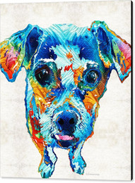 colorful pop art 2019 - Giclee colorful little-dog-pop-art by sharon cummings oil painting arts and canvas wall decoration cheap colorful pop ar