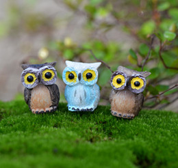 $enCountryForm.capitalKeyWord Canada - 9pcs cartoon Owl fairy garden miniatures mini gnomes moss terrariums decor resin crafts figurines for home decoration
