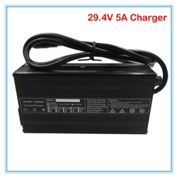 24v charger 5a Canada - 24V 5A li-ion battery charger RCA Port 29.4V 5A aluminum case charger Used for 24v 10ah 12ah 15ah 20ah lithium ion battery