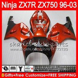 1999 Kawasaki Zx7r NZ - 8Gifts 23Colors For KAWASAKI NINJA ZX7R 96 97 98 99 00 01 02 03 18HM20 ZX750 ZX 7R ZX-7R Orange black 1996 1997 1998 1999 2000 2003 Fairing