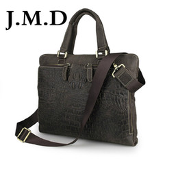 leather cell phone patterns 2019 - Wholesale- J.M.D 2017 New High Quality 100% Genuine Leather Messenger Bag Briefcase Laptop Bag Shoulder Bag Crocodile Pa