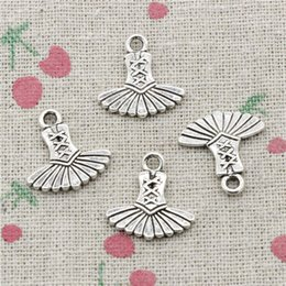 $enCountryForm.capitalKeyWord Canada - 100pcs Charms Antique Silver ballet dress tutu ballerina 17*17mm Pendan Zinc Alloy Pendant DIY Makeing Jewelry Bracelet Necklace Fittings