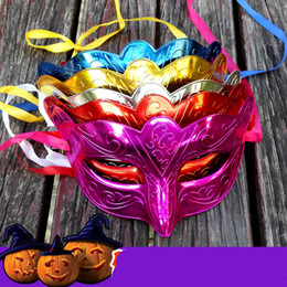 $enCountryForm.capitalKeyWord Canada - 2018 Halloween Party Masks Masquerade Masked ball Venice Carnival Mardi Gras Costume Wedding decorations 5 Colors Electroplate Free Shipping