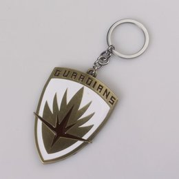 Galaxy Keychain Canada - Movie Seriers Guardians of the Galaxy keyring The shield antiqune Bronze Plated Keychain Jewelry