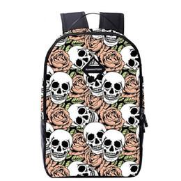 $enCountryForm.capitalKeyWord NZ - Fashion 3D printing Mens backpack hip-hop canvas backpack women Bag Skull Backpack school bags for teenagers 1pcs free ship