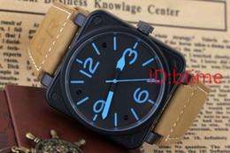 c80990b4d23 Novo Estilo dos homens Automática Mecânica Edição Limitada Relógio Bell  Aviação Homens Esporte Relógios de Mergulho Caso Preto BR01-92 Relógio De  Pulso De ...