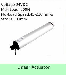 Speed S NZ - high speed linear actuator 24VDC 300MM  12inch stroke 100N 100mm s IP 54 low noise linear motor