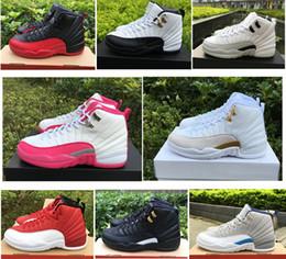 big sale 85cd5 f2601 2018 12 OVO nuevo blanco Gym Red Taxi Blue Suede Flu Game para mujer zapatos  de baloncesto baratos Nylon negro PSNY basket ball sneakers