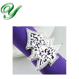 wholesale anillos de servilleta de plata rbol de navidad decoracin de navidad titular de la servilleta