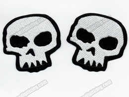 $enCountryForm.capitalKeyWord Canada - Wholesale Skull Embroidered Patch Iron On Sew On Any Garment Vest Rider Patch DIY Applique Embroidery Patch G0354 Free Shipping