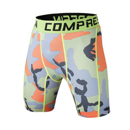 Shorts De Satin Serrés Pas Cher-Fashion-New Summer Army Compression Tights Shorts Men Spandex Quick Dry Ball Shorts Vêtements d'exercice Vansydical Nice New