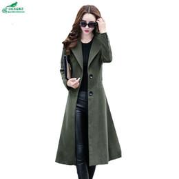 576536bee OKXGNZ Coréia 2017 Novo Inverno Casaco De Pano De Lã de Médio Longo Fino Moda  Mulheres Casaco Elegante Lapela Grandes Estaleiros Mulheres Casaco A072