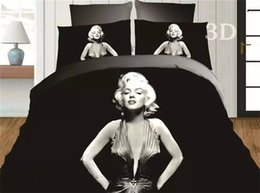 3d 4pc Quilt Bedding Set UK - 3D Marilyn Monroe Duvet Cover Set 4PC Quilt Cover Bed Sheet Pillowcase FullQueen Very sell like hot cakes style!