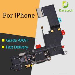 Para apple Conector AAA Quality Dock Puerto de carga USB y conector de audio para auriculares Cable flexible Ribbon para iPhone 5 6 6s 6p 7