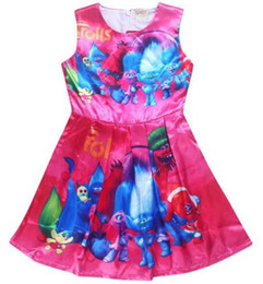 cotton for babies UK - New kids dress Trolls girls dresses for 4-12Y Magic summer high-end european girls party dress wholesale baby boutique clothes
