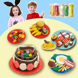 clay blocks 2019 - DIY Soft Creative Polymer Modelling Clay set with tools cake breakfast food FIMO Effect Blocks Special Toys Gift for Chi